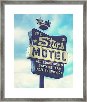 The Stars Motel In Chicago Framed Print by Emily Kay