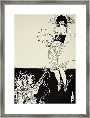 The Stomach Dance Framed Print by Aubrey Beardsley