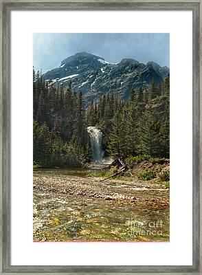 Serenity Fall Framed Print by The Stone Age