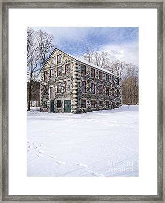 The Stone Mill At The Enfield Shaker Museum Framed Print