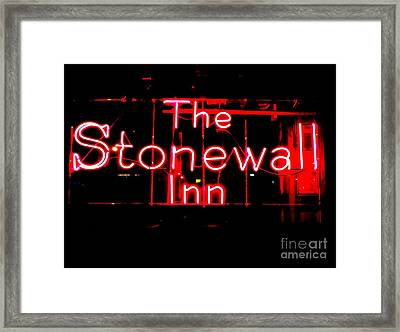 The Stonewall Inn Framed Print