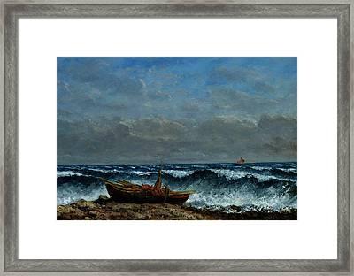 The Stormy Sea Framed Print