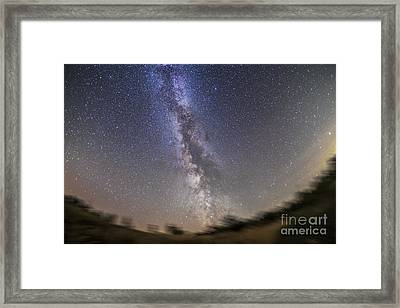 The Summer Milky Way On A Clear Framed Print by Alan Dyer