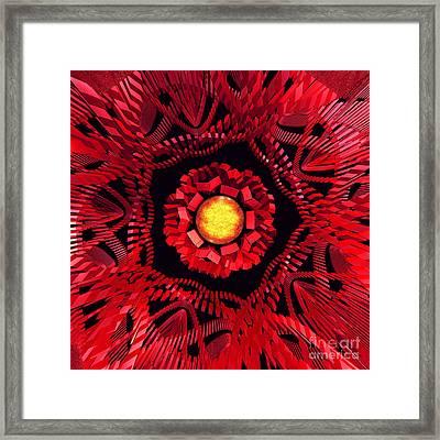 The Sun Is The Center Framed Print