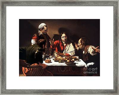 The Supper At Emmaus  Framed Print by Celestial Images