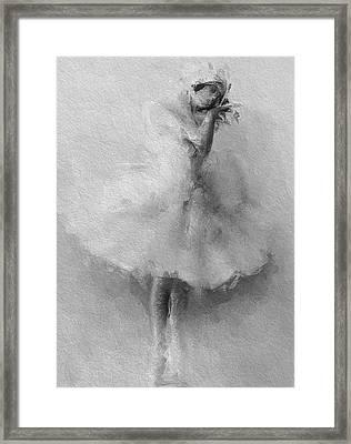 The Swan Framed Print by Steve K