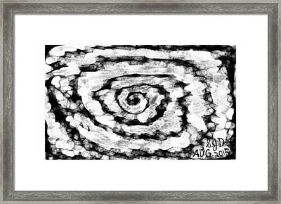 The Swirly Circle Of Life Framed Print by Joe Dillon