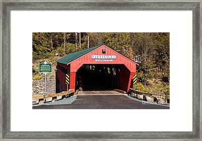The Taftsville Covered Bridge. Framed Print by New England Photography