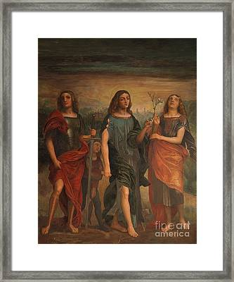 The Three Archangels Framed Print by Archangelus Gallery