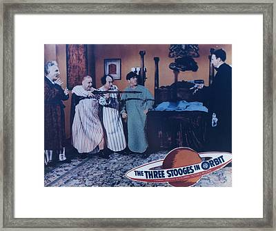 The Three Stooges In Orbit Framed Print