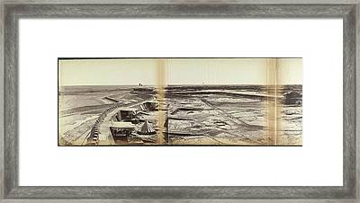 The Town And Forts Of Peh-tang Framed Print