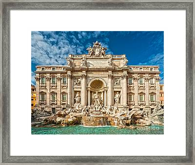 The Trevi Fountain - Rome Framed Print by Luciano Mortula