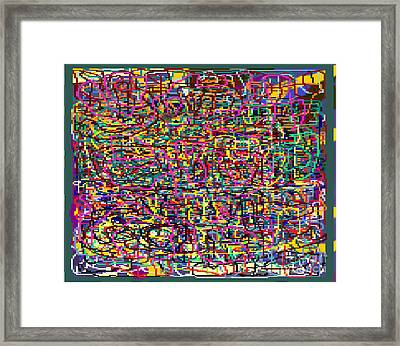 The Tzaddik Lives On Emunah 21 Framed Print