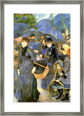 The Umbrellas Framed Print