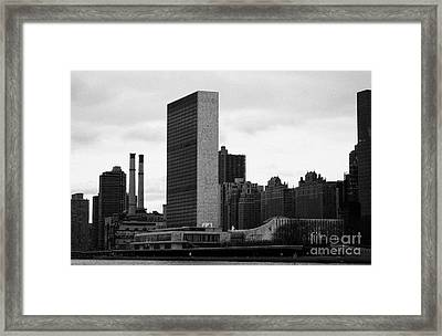 The United Nations Building Un New York Framed Print