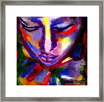 Framed Print featuring the painting The Universe And Me by Helena Wierzbicki