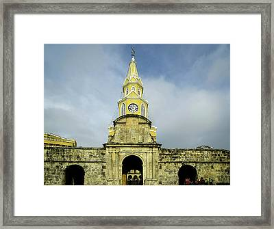 The Venerable Clock Tower, Torre Del Framed Print