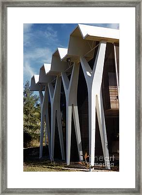 The Vereen House By Architect Robert Bradford Browne Framed Print