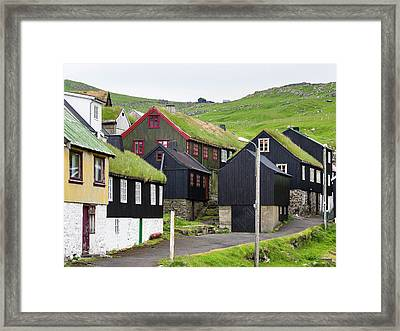 The Village On Island Mykines, Part Framed Print
