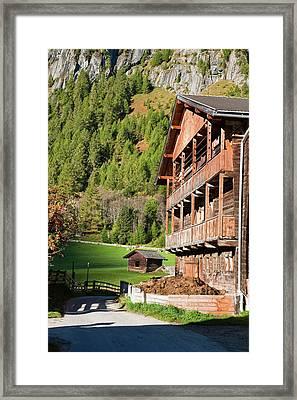 The Village Streden In Valley Framed Print by Martin Zwick
