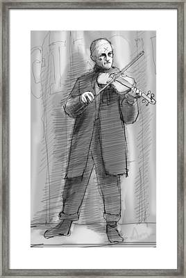 The Violinist Framed Print by H James Hoff