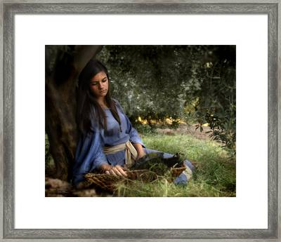 The Virgins Name Was Mary Framed Print by Helen Thomas Robson