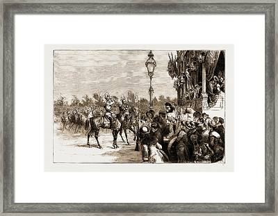 The Visit Of The Crown Prince Of Germany To Spain The Crown Framed Print by Litz Collection