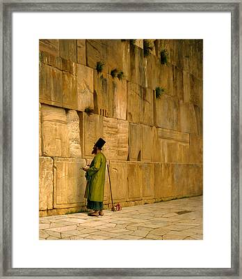 The Wailing Wall Framed Print by Jean-Leon Gerome