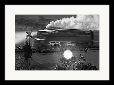 Train Tracks Digital Art Framed Prints