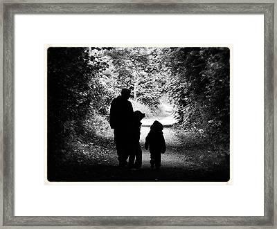 The Walk Framed Print by Trevor Fellows