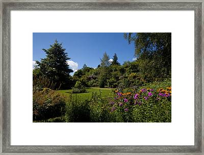 The Walled Garden, Belvedere House Framed Print by Panoramic Images
