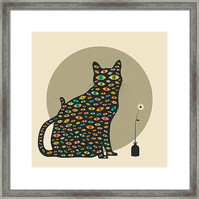 The Watcher Framed Print by Jazzberry Blue