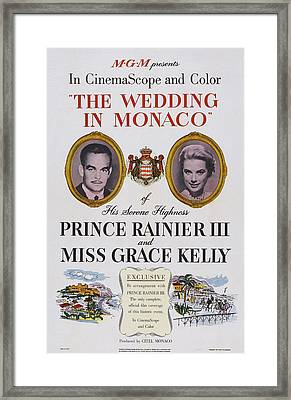 The Wedding In Monaco, Us Poster Art Framed Print