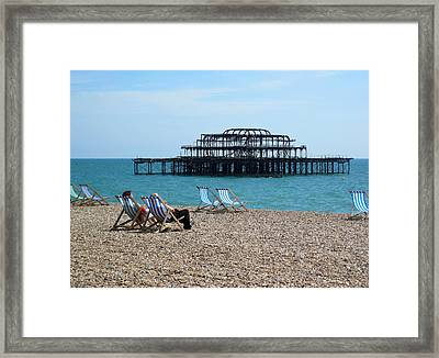 The West Pier Brighton Framed Print by Mike Lester