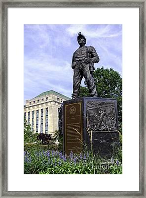 The West Virginia Coal Miner Framed Print by Thomas R Fletcher