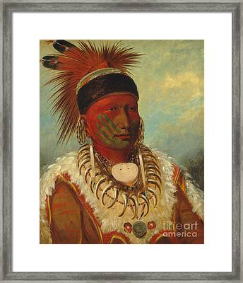 The White Cloud Head Chief Of The Iowas Framed Print by George Catlin