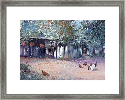 The White Picket Fence Framed Print