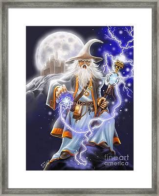 The Wizard Framed Print by Rick Mittelstedt