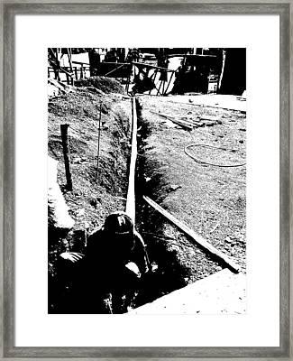 The Worker Framed Print
