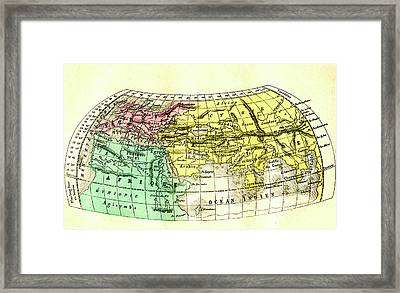 The World By Homer Framed Print by Collection Abecasis