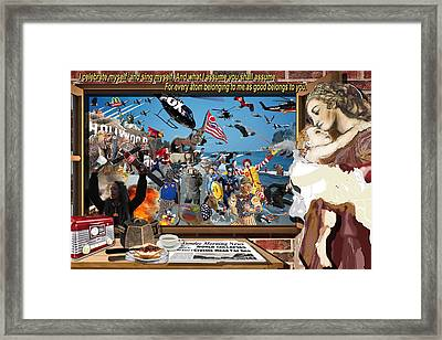 The World Collapsed On A Sunday Morning Framed Print