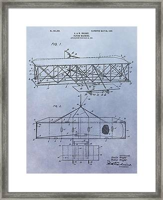 The Wright Brothers Airplane Patent Framed Print