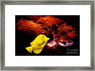 The Yellow Queen Framed Print