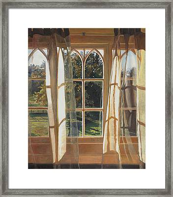 The Yellow Window Framed Print by Helen White