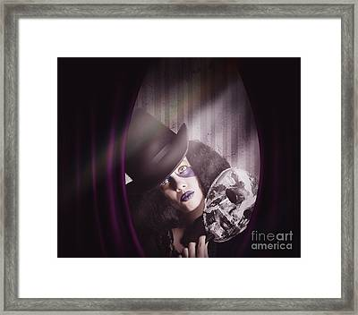 Theater Performer Play Acting Masquerade Show  Framed Print by Jorgo Photography - Wall Art Gallery