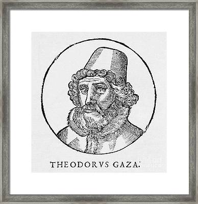 Theodorus Gaza, Greek Humanist Framed Print