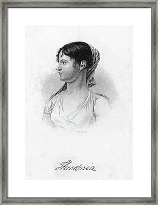 Theodosia Burr (1783-1813) Framed Print by Granger