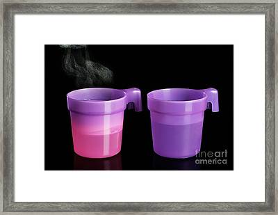Thermochromatic Plastic Cups Framed Print