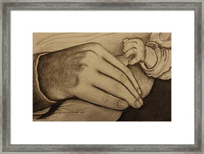 These Are The Hands That Love Me Framed Print