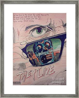 They Live Framed Print by Christopher Soeters